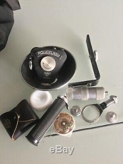 ANCIEN ROLLEIFLEX avec tous les accessoires rolleiflash/pellicule / état parfait