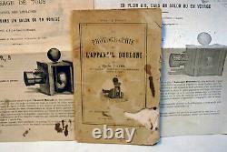 APPAREIL LABORATOIRE PHOTOGRAPHE DE POCHE 2ème modèle / PARIS -DUBRONI 1865
