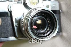APPAREIL PHOTO/CAMERA ZEISS IKON CONTAREX. OBJECTIF PLANAR 1/2 F=50mm. COLLECTOR