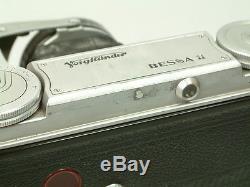 Alte Voigtländer BESSA II 6x9 Balgenkamera mit COLOR HELIAR 3,5/105 + Tasche