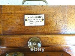 Ancien Appareil Photo A Soufflet A Chambre En Bois Alibert Paris