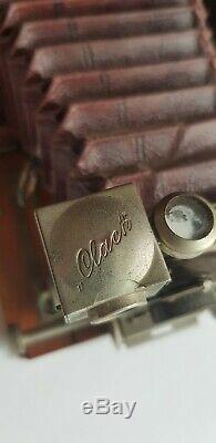 Ancien Appareil Photo CLACK Soufflet Plaque Camera Rietzschel + Objectif Kodak