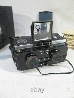 Ancien Appareil Photo Stereoscope Nil Melior Paris Macris Boucher Avec Plaques