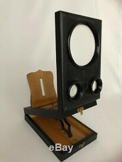 Ancien Graphoscope Stereoscope Bois Noirci 19eme G370