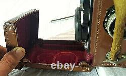 Ancien ROLLEIFLEX 3.5F Tessar 75mm Carl Zeiss Twin Lens Rollei F&H + housse cuir