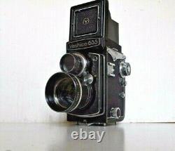 Ancien YASHICA 635 APPAREIL PHOTO 6X6 MOYEN FORMAT TLR+ 2 YASHINON TELEPHOTO
