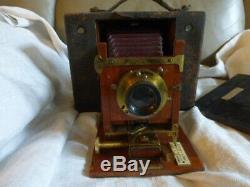 Ancien appareil photo CARTRIDGE kodak n°4 EASTMAN Chambre de voyage année 1900