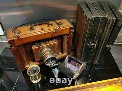 Ancien appareil photo a soufflet objectif Thomson brothers