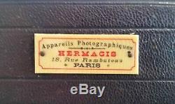 Ancien appareil photo à soufflets hermagis