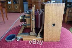 Ancien appareil photo bois à soufflet