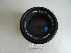 Ancien objectif CANON LENS FD 50 mm 11.4 état NEUF appareil photo lens