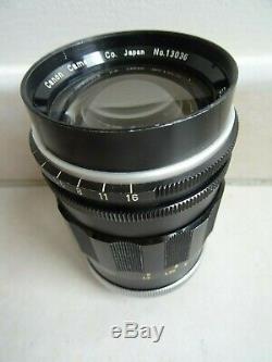 Ancien objectif CANON SUPER CANOMATIC LENS R 100 mm F 2 appareil photo lens
