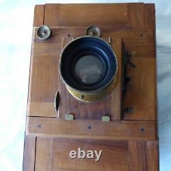 Ancienne chambre photographique à soufflet XIX siècle