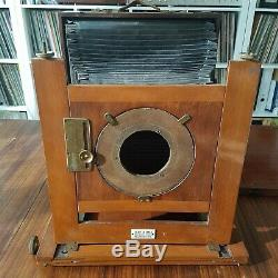 Antique 10x12in camera Talbot & Eamer mahogany late 1800's ULF large format