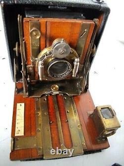 Appareil Photo Ancien Historical Folding Sanderson G. Houghton Son 1899 Lens F8