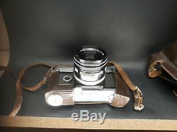 Appareil Photo Canon Canonflex dans sa housse en cuir Fonctionne 50mm Camera