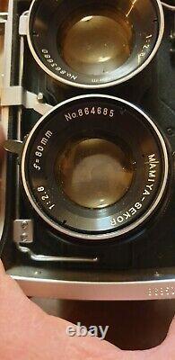 Appareil Photo Mamiya C220 80mm Blue Dot Lens Bon Etat Et Accessoires