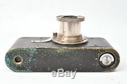 Appareil photo Leica I noir Circa 1930. #27622 avec objectif Elmar f/3.5 50mm