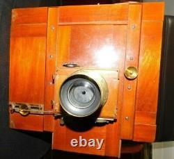 Appareil photo a soufflet Chambre photographique objectif CHROMOGRAPHE DARLOT 2
