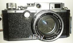 Appareil photo ancien CANON lllA, objectif SERENAR f1,8 50 mm