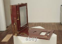 Appareil photo ancien Chambre photographique en acajou Format 18 X 24