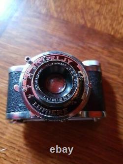 Appareil photo ancien SUPER ELJY Lumière Type 3 dans son étui cuir Rare
