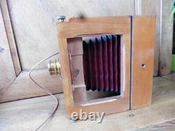 Appareil photo ancien à soufflet A. J PIPON, objectif Anastignat 13x18 + valise