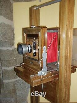 Appareil photo ancien chambre bois