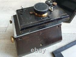 Appareil photo ancien stereo jumelles Mackenstein objectif Carl Paul Goerz 120mm