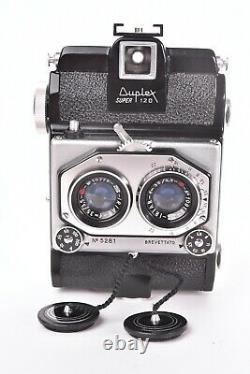 Appareil photo stereo Iso Duplex Super 120. Avec objectif Iriar f/3.5 35mm