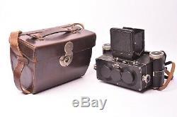 Appareil photo stereo Rolleidoscop avec objectif Tessar f/4.5 75mm. Bon état