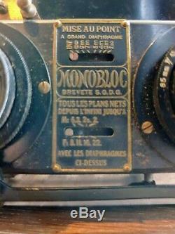 Appareil photo stéréoscopique MONOBLOC par LIEBE, Paris (début XXème)