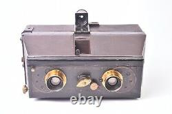 Appareil photographique Jumelle stereo Mackenstein. Format 8,5x17 cm