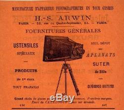 Appareil photographique Polygraphe dArwin format 13x18 cm. Bon état