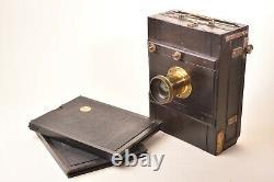 Appareil photographique de voyage. Format 13x18. Circa 1880