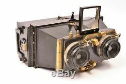 Appareil photographique stéréo Le Minimus Leroy. Format 6x13 cm