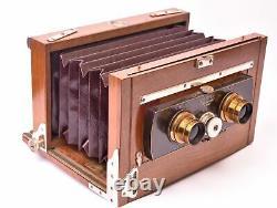Appareil photographique stéréoscopique Steinheil format 9x18 cm