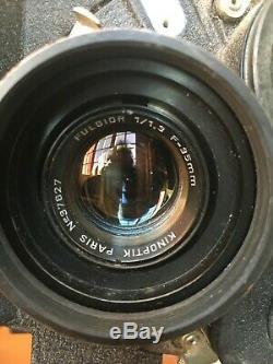 Arriflex 16mm N°10607 avec Objectif Kinoptik Fulgior 1,3 35mm