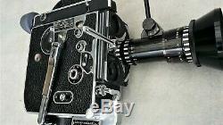BOLEX H16 REFLEX functional! Handgrip + BERTHIOT PAN CINOR f 17-85 mm