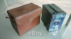Beau brownie 2A kodak bleu et vert Art Déco1930's