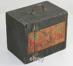 Box PHOTO-MAGIE Inventé par J. MARINIER Pharmacien à Paris Plaques 9x12 Vers 1860