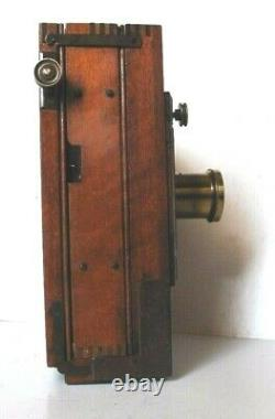 CHAMBRE PHOTOGRAPHIQUE ANCIENNE CHARLES MENDEL 13X18 OPTIQUE 7,5cm en bon état