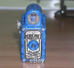 CORONET MIDGET CAMERA RARE BLUE +'REMAINS' OF BOX