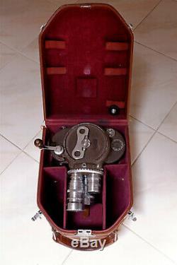 Camera 16mm Bell & Howell Filmo 70-DL avec 3 Objectifs'C' Mount et sa Malette
