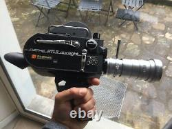 Camera 16mm Pathe BTL II Duolight + Angenieux 10mm & 12-5-67mm (retro zoom)
