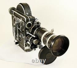 Caméra PAILLARD BOLEX H16 reflex REX avec kern vario switar 16-100 mm 1.9
