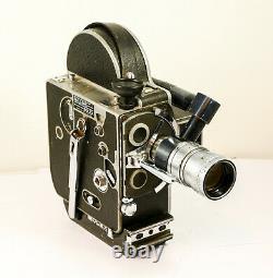 Camera Paillard Bolex BOLEX H-8 numéro 100051 avec Angénieux 1.8 f 9-36 mm