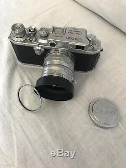 Canon IV SB Rangefinder + Canon Lens 50mm F/1.8 LTM + Hood S-42 + Filter SL39.3C