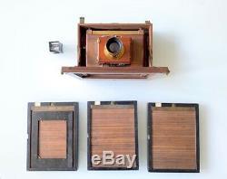 Chambre Photographique De Voyage Folding En Bois / Format 5x7