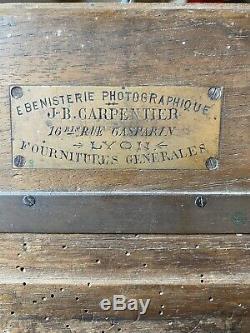 Chambre Photographique de voyage. No Circa en bois et soufflet